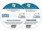 Software : Windows 7 (SP1) 32 & 64 bit Easy Install Reinstall DVD Set - Home Basic Premium Professional Ultimate + 2017 Driver DVD Included - 2 Disc Easy Automatic Installation Kit