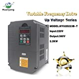 Huanyang VFD CNC Variable Frequency Drive Converter Controller 220v input 380v output 2.2kw 3hp Inverter for Motor Speed Control