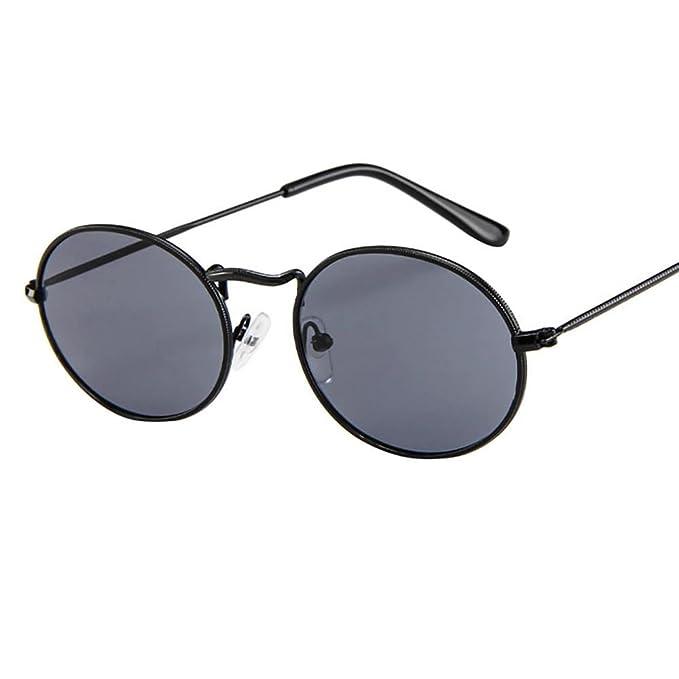 KanLin1986-Gafas Vintage Gafas de sol Unisex, Barato Moda Retro Gafas de sol de ovales de Marco de metal,Elipse sombras gafas de viaje para hombres ...