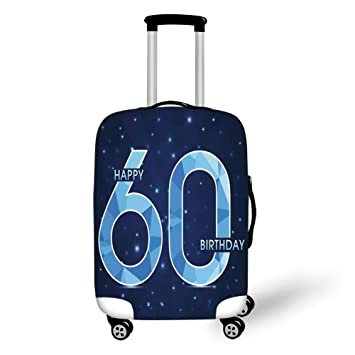 Travel Luggage Cover Suitcase Protector60th Birthday DecorationsSpace Theme Stage With Star Like