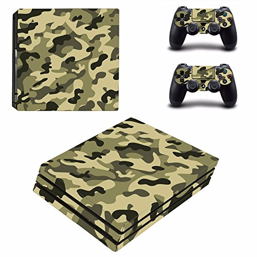 Military Camouflage Sticker For Playstation4 PS4 Console + 2 Controller Cover C1