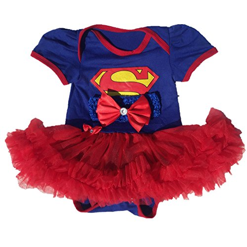 Supergirl Costumes For Girl (Starkma Supergirl Newborn Infant Baby Girl Set Clothe Cake Dress S01 (L(6-12 month)),White,L(6-12 month))