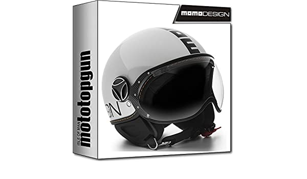 Amazon.es: MOMO-DESIGN CASCO MOTO FIGHTER EVO BLANCO CUARZO POLISH NEGRO XL