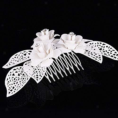 Crystal Flower Leaves Hairpin Clip Hair Combs Bridesmaid Bridal Hair - Pin Lime Crystal