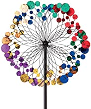 Bits and Pieces - Metallic Kaleidoscope Wind Spinner - Garden Décor - Weather Safe Finish Makes for Great Addi