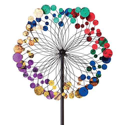 (Bits and Pieces - Metallic Kaleidoscope Wind Spinner - Garden Décor - Weather Safe Finish Makes for Great Addition to Your Garden, Lawn or Patio)