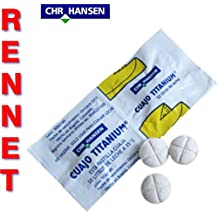 10 x Cuajo TITANIUM RENNET Tablets For any type of cheese 10 TABLETS FOR 500L OF MILK