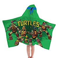 Jay Franco Nickelodeon Teenage Mutant Ninja Turtles Toalla con capucha resistente a la fibra
