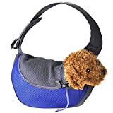 CozyCabin Portable Soft Padded Small Pet Puppy Single Shoulder Carrier Bag for Bike Hiking Dog Carrier Sling Purse Travel Carrier Outdoor (M, Blue)