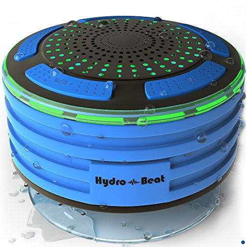 Bluetooth Portable Waterproof Shower Radio - HB Illumination – Shockproof, Dustproof Wireless Shower Radio With Suction Cup, Perfect For Pool, Shower, Boat, Beach, Hot Tub, Outdoors, Indoors (Hot Tub Electronic)