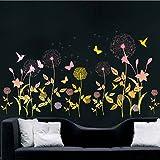 Best Amaonm Home Fashion Kids - Amaonm Creative Fashion Light Yellow Orange Dandelion Wall Review