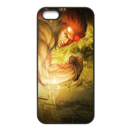 Street Fighter X Tekken Fighter Rain Look Glasses coque iPhone 4 4s cellulaire cas coque de téléphone cas téléphone cellulaire noir couvercle EEECBCAAN04147