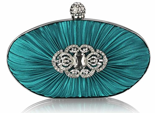Handbag Satin CWE0093 Ladies Wedding Rouched Bag Fashion Clutch Bags Women's Emerald Body Designer Case Evening CWE0093 Cross Crystal CWE0092 Hard CWE00315 Quality vAwvaq
