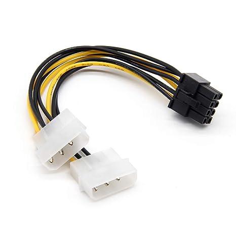 Dergtgh Dual 4P 8P a la Tarjeta gráfica del Cable de la línea ...