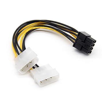 Laileya Dual 4P a 8P Cable Tarjeta gráfica línea de alimentación ...