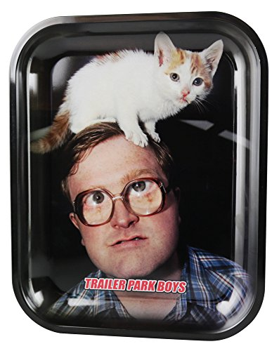 Trailer Park Boys Rolling Tray - Bubbles Kitty (13.5'' x 10.75'') by Famous Brands