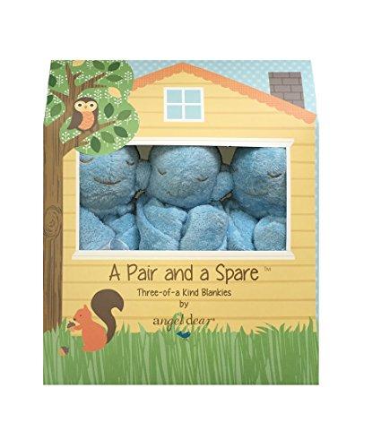Angel Dear a Pair and a Spare 3 Pcs Blankets Gift Box, Blue Whale.