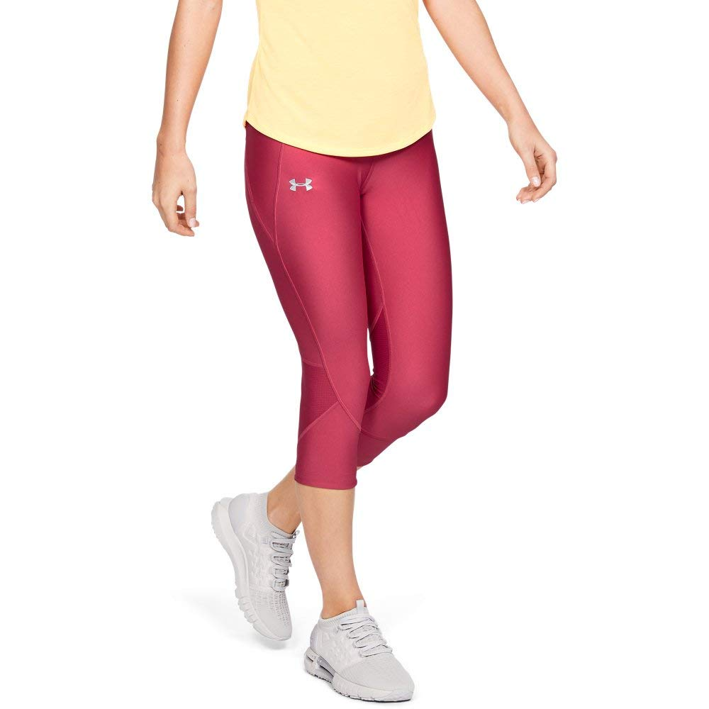Under Armour Women's Armour Fly Fast Capris, Impulse Pink//Reflective, X-Large by Under Armour