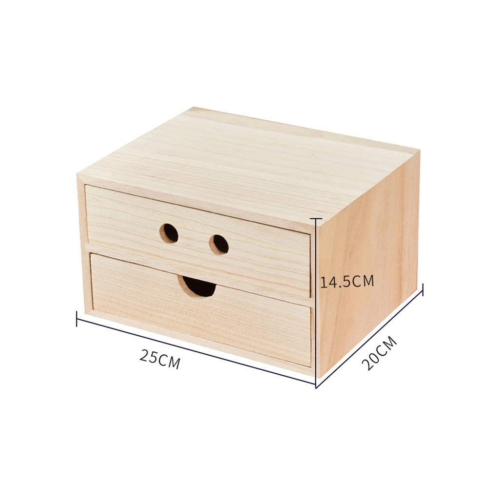 A4 Desktop File Cabinet Data Cabinet Drawer File Storage Cabinet File Box Office Supplies Portable and Tidy Storage Box-Wooden (Color : 25x20x14.5CM) by QSJY File Cabinets