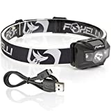 Best Rechargeable Headlamps - Foxelli USB Rechargeable Headlamp Flashlight - 180 Lumen Review