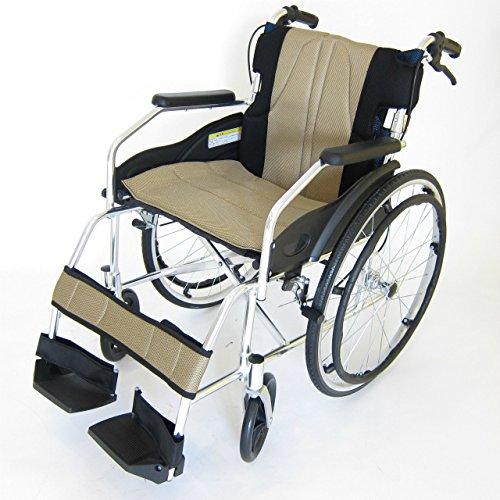 アルミ製自走式車椅子 ドラムブレーキ式 【チャップスDB】ベネチアンゴールド【軽量】【自走式】【アルミ】【車椅子】【ノーパンクタイヤ】【介助ブレーキ付き】【折りたたみ式】【背折れ】【車イス】【介助用】にも! A101-DBAGD B07BZH8NHJ