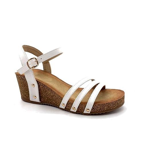 Ouverte Talon Cm Confortable Femme Mule Lanières Compensé Boucle Angkorly Chaussure 6 Sandale Mode n0wOkXP8