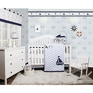 51Ycrag5eFL._SS300_ Nautical Crib Bedding & Beach Crib Bedding Sets