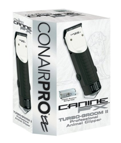 Conair Canine FX Turbo-Groom II Professional Animal Clipper, Dog Professional Grooming, Pearl White