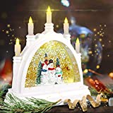 [Latest 2020] Christmas Water Glittering Snow Globe
