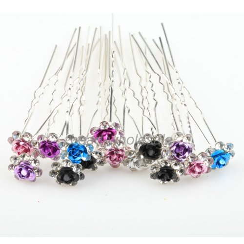 ilovediy-20pcs-mixed-color-crystal-hair-pins-decorative-for-women-buns-long-hair