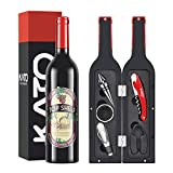 Cheap Kato Wine Accessories Gift Set – Wine Bottle Corkscrew Opener Kit, Stopper, Pourer, Foil Cutter, Drip Ring with Free Drink Stickers, Best Gift for Father's Day and Wedding, Red