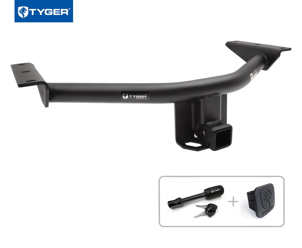 Tyger Auto TG-HC3H0428 Trailer Hitch (Class 3 Combo with 2'' Receiver Cover and Pin Lock for 2014-2018 Acura MDX / 2016-2018 Honda Pilot)