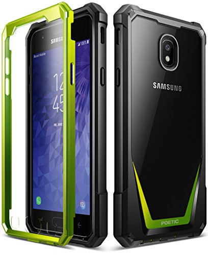 Galaxy J3 2018 Rugged Case, Poetic Guardian Heavy Duty Case with [Built-in-Screen Protector] for Samsung Galaxy J3 2018/J3 Star/J3 Orbit/J3 V 3rd Gen/J3 Achieve/Express Prime 3/Amp Prime 3 - Green (Sexy Galaxy S3 Case)
