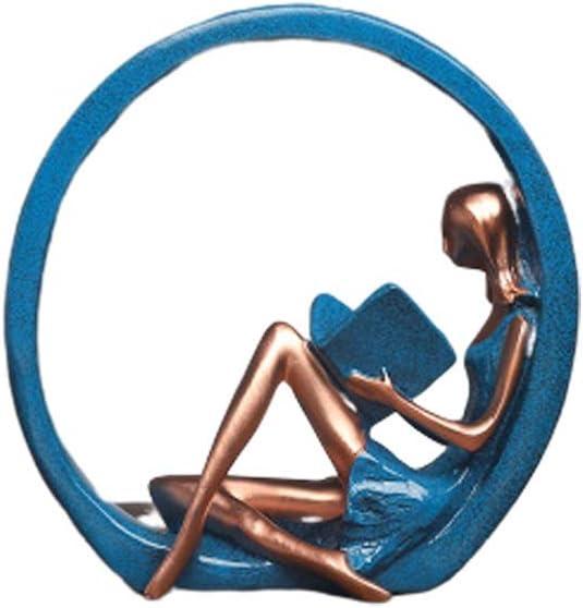 XUEYAN Yoga Girl Pose Resina de la decoración casera Creativa de gabinete del Vino Porche Televisión Gabinete decoración decoración de la Resina (Size : C): Amazon.es: Hogar