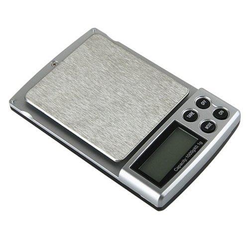 BÁSCULA DIGITAL DE PRECISIÓN 0,1g -> 1000g 1Kg JOYERÍA BALANZA DE BOLSILLO ELECTRONICA SCALE 1000 g PANTALLA LCD ILUMINADA LED CON PILAS AAA 1,5V: ...