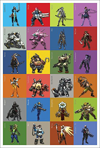 OVERWATCH ALL CHARACTERS POSTER 24in x 36in GAME