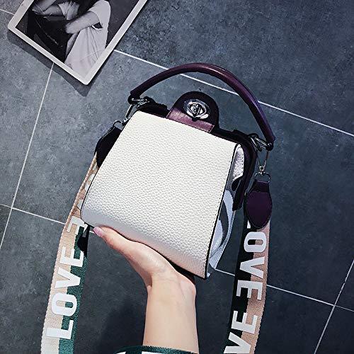 Messenger Sac à Port Blanc Main marée épaule Sauvage Mode rétro Sac du Version coréenne WSLMHH Sac Femme Bande Vent Large 6wqTYH4x80