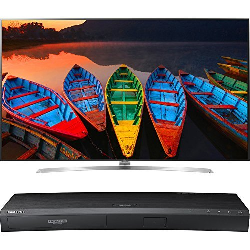 LG 75-Inch Super Ultra HD 4K Smart LED TV with webOS 3.0 (75UH8500) with Samsung 3D Wi-Fi 4K Ultra HD Blu-ray Disc Player