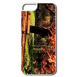 IPhone 5S Cases, Rust Colored Leaves White Cases For IPhone 5/5S