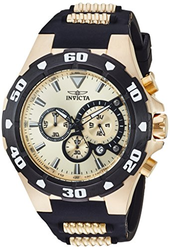 Invicta Men s Pro Diver Stainless Steel Quartz Watch with Silicone Strap, Two Tone, 0.92 Model 24682