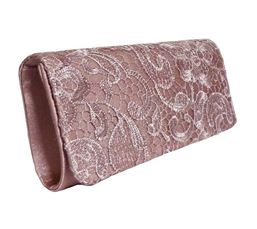 with 10 Party Lace Latte Edelweiss Coffee Strap Front Vintage Clutch inch xXqOaFw0