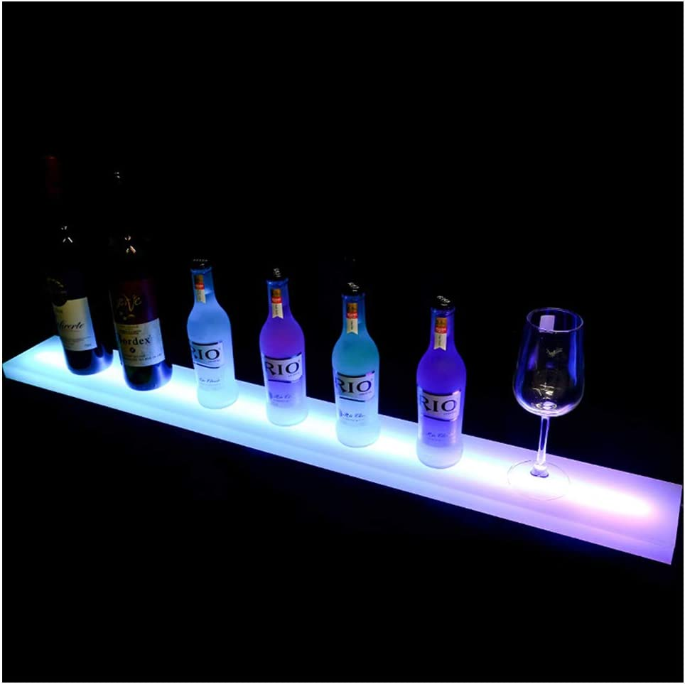 LED Bottle Display 39 Inches Bar Shelves for Liquor Lighted, Home Bar Lighting LED Illuminated Liquor Rack with Remote Control for Birthday Wedding Christmas Party, Club, Bars.