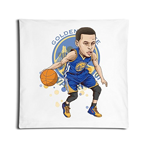 Steph Curry Lights Up New Orleans With 53 Points Pillow Cover White Cool 18 X 18-Inch
