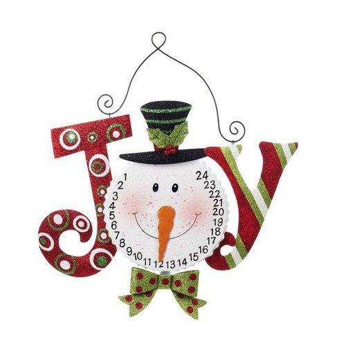 Countdown To Christmas Snowman Head -