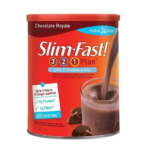 Slim Fast 3 2 1 Plan Chocolate Royale Energy Shakes Mix 31 18 Oz  Pack Of 4  By Unilever
