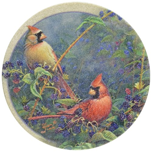 Thirstystone Drink Coaster Set, Cardinal Pair