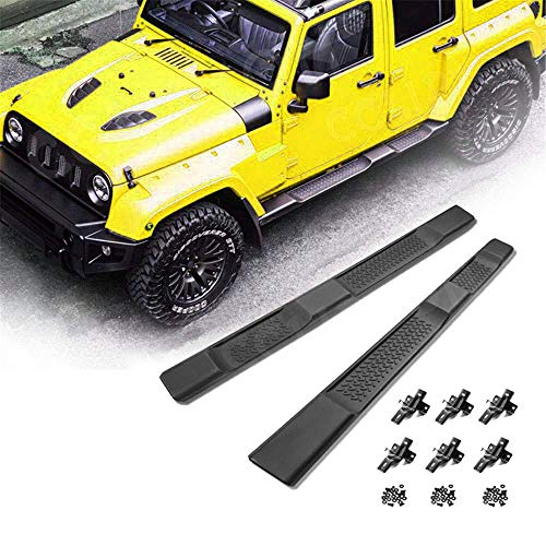 GaofeiLTF Side Steps Fit 2007-2017 Jeep Wrangler JK 4-Door OE Style Running Boards Nerf Bars Exterior Accessories 2pcs
