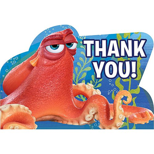 Disney Pixar Finding Dory Thank You 8 (Abby Cadabby Birthday Invitations)
