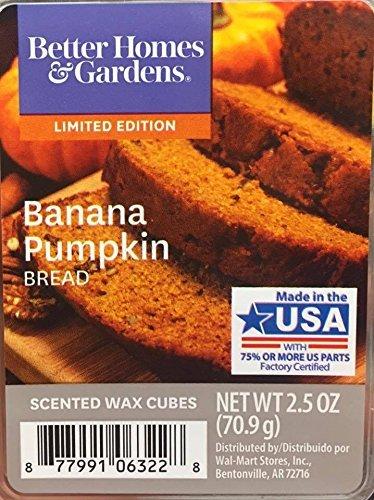 Better Homes & Gardens Mejor casas y jardines Banana pan de calabaza cubos de cera aromática