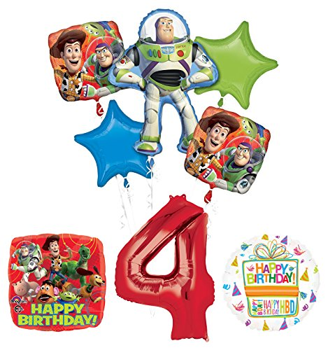 Toy Story 4th Birthday Party Supplies and Balloon Bouquet Decorations by Mayflower Products